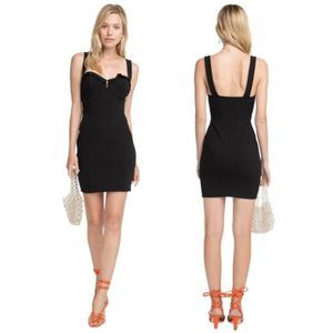 ASTR the Label Emory Bodycon Dress Black Large NWT